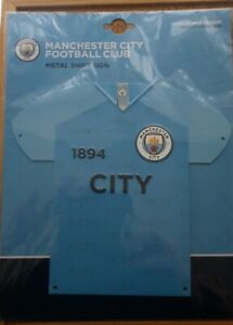 Official  Manchester City FC Metal 3D Shirt Sign - FREE POSTAGE!