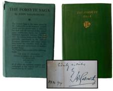 John Galsworthy SIGNED, The Forsyte Saga,1st UK Edition in the Rare Dust Jacket