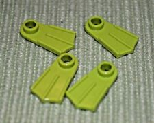 (4) Lime Green Minifigure Swim Fins Brick Bricks ~  Lego  ~ NEW ~