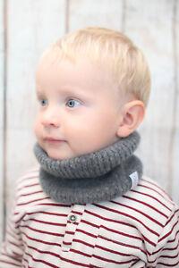 Yak Merino Wool Baby Toddler Kids Neck Warmer Handmade Snood Perfect Gift
