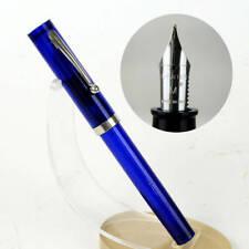 sheaffer no nonsense translucent blue fountain pen - 1970 NOS - Fine nib