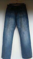 Mens AKADEMIKS Hip Hop Blue Jeans Urban Size 34 Distressed All Categories