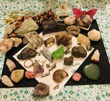 More details for job lot natural raw crystals & tumble stones, pre owned, a nice mixed selection