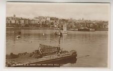 Guernsey postcard - Glimpse of St Peters Port from Castle Walk - RP