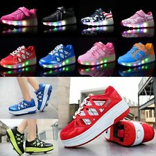 Unisex Kids Boys Girls Retractable Roller Shoes Skate wheel Sport Causual Shoes