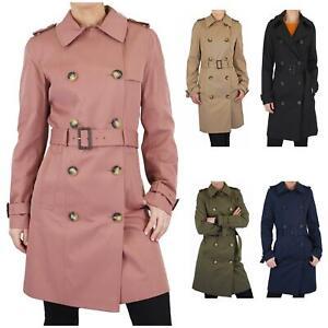 Womens M&S Raincoat Trench Coat Ladies Rainmac Mac Stormproof Waterproof Jacket