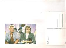 carte postale italienne 1998 JOHNNY HALLYDAY + JEAN JACQUES GOLMAN