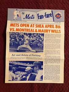 1969 NEW YORK METS FAN FAIR NEWS PAMPHLET SCHEDULE AMAZING METS 69 WORLD CHAMPS