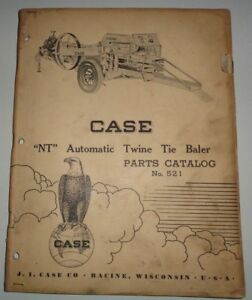 Case NT Twine Tie Baler Parts Catalog Manual book Original!
