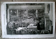 Professor Faraday Lecturing at the Royal Institution - Illus. London News,1856