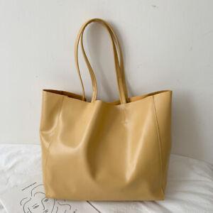 Women PU Leather Handbag Large Capacity Casual Shoulder Bag Messenger Tote Bag