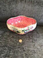 Beautiful Maling Pink Lustre Ware Bowl Dish Tulips Daffodils Perfect Gift Item