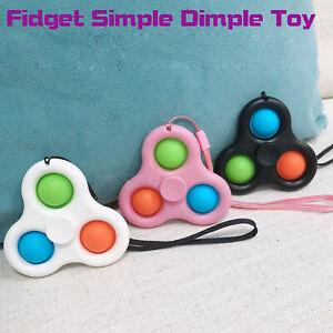 Simple Dimple Pop Push It Fidget Spinner Bubble Sensory Autism Toy Stress Relief