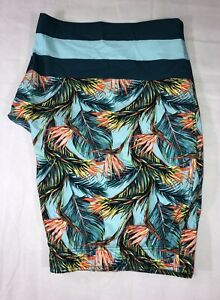 OP Swim Trunks Men's 3XL Multicolored Tropical Design With Pockets