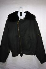 Canadian Air Force Intermediate Flyers Jacket Mouton Fur Size 6639 Short Medium