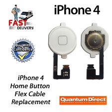 NUOVO BIANCO COMPLETO CASA bottone a sostituzione Cavo Flessibile per iPhone 4 (
