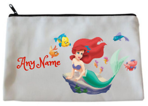 Personalised Little Mermaid/Ariel Style Accessory/Pencil Case/Make Up Bag