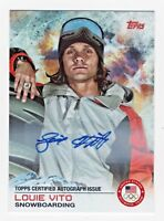 2014 Topps USA Olympic Team Autograph #87 Louie Vito Snowboarding