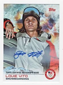 2014 Topps USA Olympic Team Authentic Autograph #87 Louie Vito Snowboarding