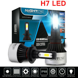 NightEye 72W H7 Car LED Headlight 9000LM Conversion Kit Globes 6500K White