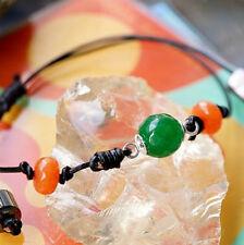 Armband Smaragd Grün Mandarin Granat Facettiert Kugel Rondell Silber Verstellbar