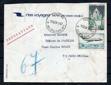 PA 42 2f MYSTERE 20 + N° 1392A PROVINS s/PNEUMATIQUE 1967 3ème ECHELON