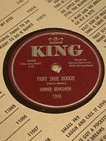 RARE ROCKABILLY Country 78 DONNIE BOWSHIER Tight Shoe Boogie (King 1245) EX+