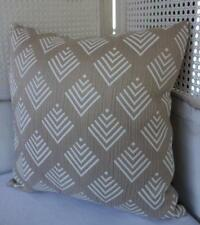 Rustic Hamptons Coastal Beige & White Textured Cushion Cover 45cmn