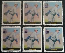 Cy Young LOT of 6 US Baseball COMMEMORATIVE Unused MNH Postage Stamps