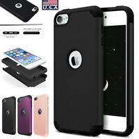 For Apple iPod Touch 7th 6th 5th Generation Silicone+PC Hybrid Combo Case Cover