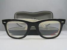 Ray-Ban RB 5121F 2464 WAYFARER Black on Ivory Authentic Eyeglasses 50mm w/Case