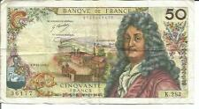 FRANCE 50 FRANCS 1975  P 148. F CONDITION.  4RW 26FEB