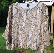 WORTHINGTON women 3/4 sleeve animal print top blouse size XL