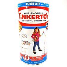 TinkerToy Construction Set 66 Pieces Junior Builder Set Actual 59 Pieces Guc