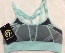 Women's CHAMPION C9 Strappy Sports Athletic Removable Pads Bra XS light blue