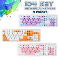 KeyCaps 104 Keys PBT Double Shot Backlit Set for Cherry MX Mechanical Keyboard