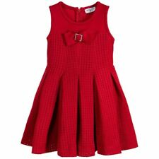 MONNALISA BIMBA Niñas Vestido Plisado De Neopreno Rojo 3 años