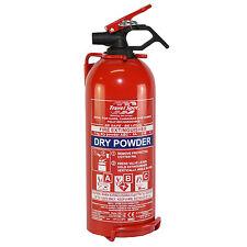 1kg BC POWDER FIRE EXTINGUISHER CAR HOME CARAVAN VAN PORTABLE COMPACT HOME TAXI