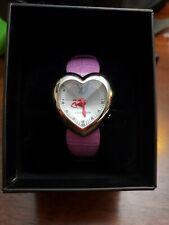 Chronotech Ladies Heart Watch. Pink Alligator Strap. Brand New MSRP $499.00