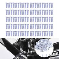 100x guaine terminali alluminio cavi freno freni cambio bici bicicletta 7 X 3 mm