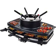 Raclette mit Grill und Fondue für 8 Personen