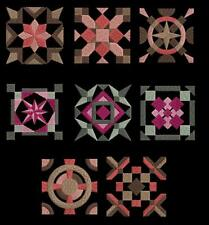 16 Geometrical Borders & Quilt Blocks Machine Embroidery Designs CD 4x4 Brother
