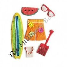 6 Beach vacation Embellishments Handmade mulberry paper Invitations Scrapbooking