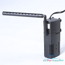 Aquarium Internal Filter 3-in-1 Multi-Function Pump 50 Gallon Fish Tank 210 GPH