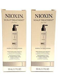 2 NIOXIN System 1 Scalp Treatment Fine Hair Normal To Thin-Looking 1.7 OZ Each