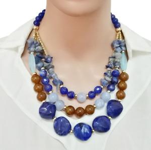 Fashion Women Bib Necklace Multilayer Beads Choker Chunky Statement Jewelry Set
