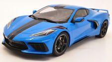 GT Spirit 1/18 Scale Model Car GT286 - 2020 Chevrolet Corvette C8 - Blue/Black