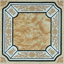 Beige Marble Vinyl Floor Tile 40 Pcs Adhesive Flooring - Actual 12'' x 12''