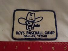 Big State Boy's Baseball Camp Patch, Dallas, Texas