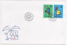 """Åland 1996 MiNr. 107; 108 Ersttagsbrief """"Grüße"""" ; FDC """"Greetings"""""""